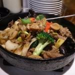 牛肉のバーベキューソース鉄板焼