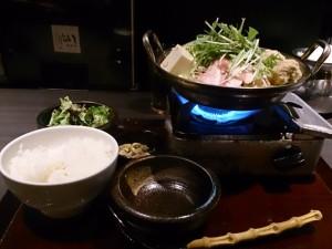 ちゃんこ鍋定食(塩)