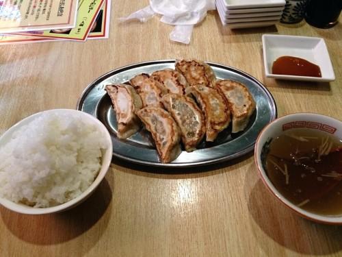 餃子定食C(特製+しそ)