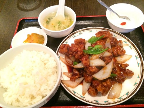 鶏肉黒酢かけ