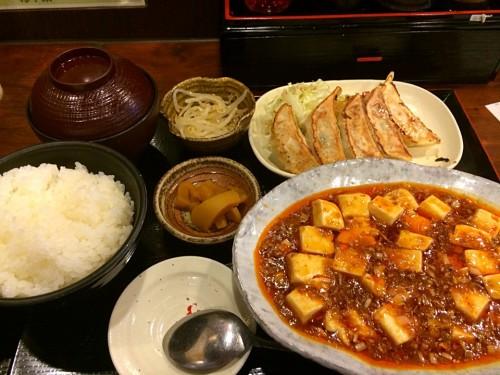 麻婆豆腐&餃子定食