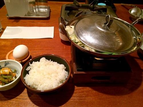 もつ鍋定食ダブル