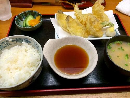 キスとハゼの天ぷら定食