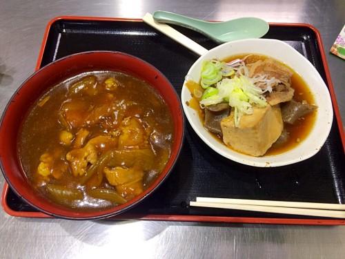 カレー丼と肉豆腐